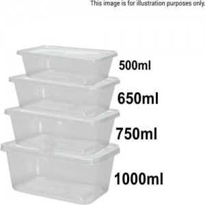 Rectangular Microwaveable Food Containers