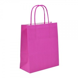 Fuchsia Pink Paper Bags