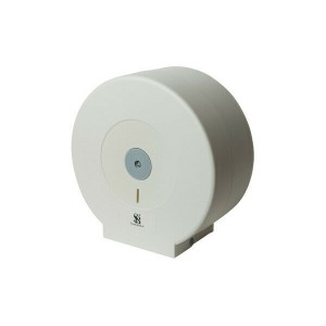 Wall Mounted White Plastic Toilet Roll Holder