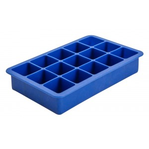 15 Cavity Blue Silicone Ice Cube Mould
