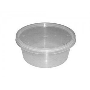 12oz Round Clear Plastic Microwave Containers
