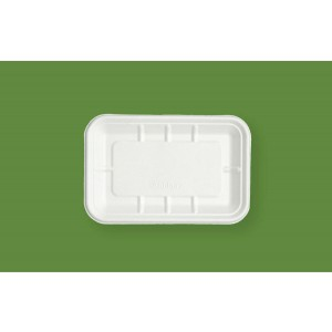 Bagasse Rectangular Food Trays 4.5 x 8''