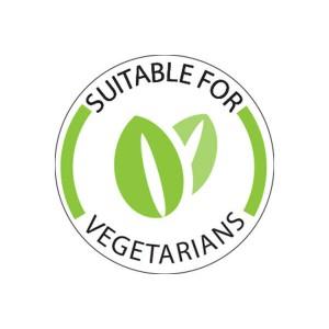 25mm Vegetarian Food Labels