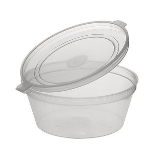 4oz Hinged Clear Plastic Portion Pot