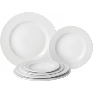 """Pure White Wide Rim Plate 8"""" (20.25cm)"""