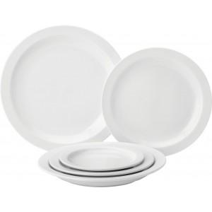 "Pure White Narrow Rim Plate 10"" (25.4cm)"