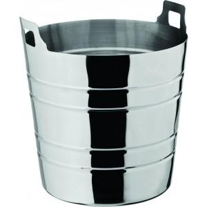 "Ribbed Wine Bucket 8"" (20cm) H: 7.5"" (19cm)"