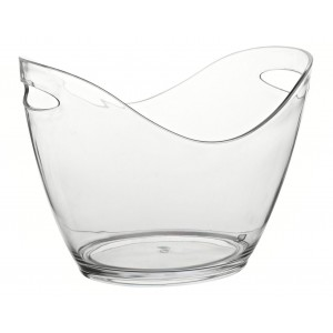 "Small Champagne Bucket Clear 10.5"" (27cm)"