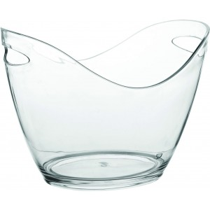 "Large Champagne Bucket Clear 13.75"" (35cm)"