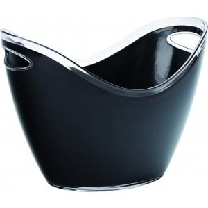 "Large Champagne Bucket Black 13.75"" (35cm)"