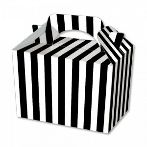 Black Candy Stripe Party Meal Box