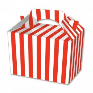 Red Candy Stripe Party Meal Box