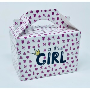 'It's A Girl' Baby Shower Party Meal Box