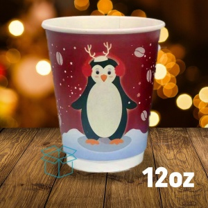 12oz Christmas Paper Coffee Cups NEW DESIGN