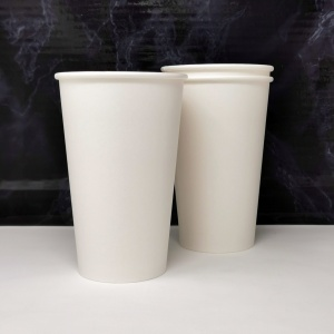 Single Walled Paper Coffee Cups - 16oz