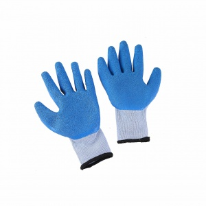 Thick Blue Latex Safety Gloves
