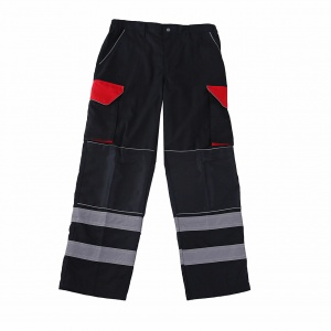 Work Trousers with High Vis Stripes